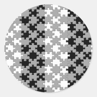 Design - Black & White Round Sticker