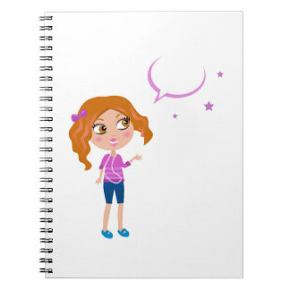 Design block with teen girl note book