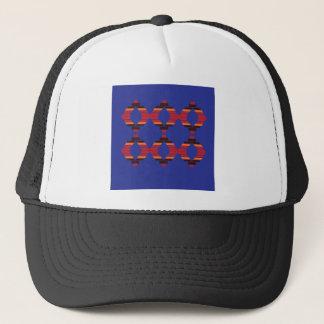 Design blocks blue Ethnic Trucker Hat