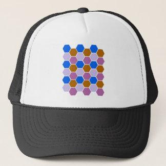 Design blocks blue trucker hat