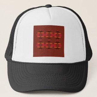 Design Blocks ethnic Chocolate Trucker Hat