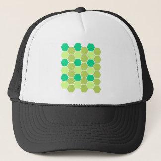Design blocks green eco trucker hat
