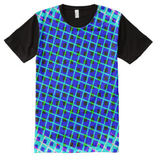 Design Blue Shapes and Lines Shirt