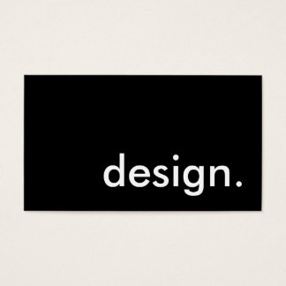 design. business card