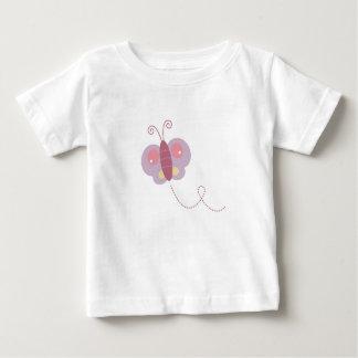 Design butter fly on white baby T-Shirt