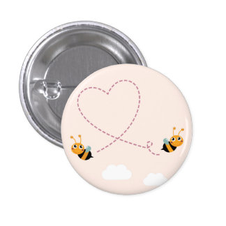 Design button with little cute Bees