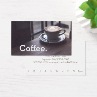 Design Coffee on Table Simple Loyalty Coffee Card