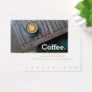 Design Coffee Square Table Simple Loyalty Coffee Business Card