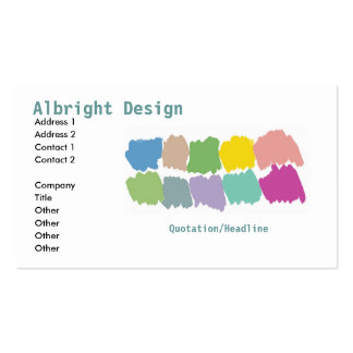 Design color paintbrush swatches Business Card-sta