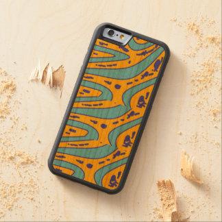 design colour carved cherry iPhone 6 bumper case