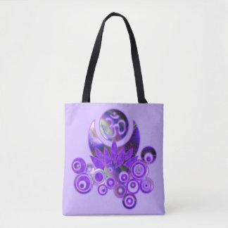 Design Composing - OM LOTUS violet + your backgr. Tote Bag