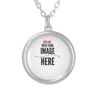 Design Custom Logo/Text Product Round Pendant Necklace