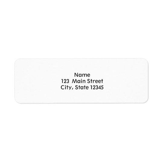 Design Custom Template Blank Return Address Label