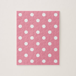 Design dots white on pink sweet jigsaw puzzle