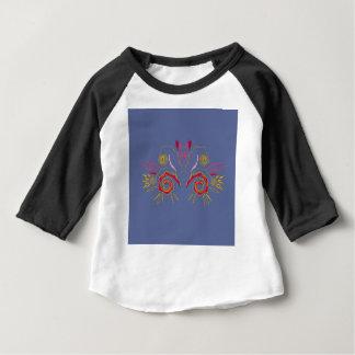 Design elegant Henna  red Silver Baby T-Shirt