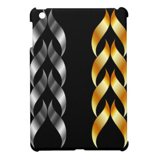 Design element in gold and silver cover for the iPad mini