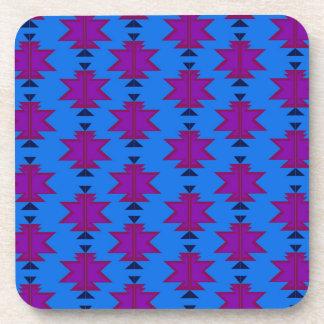 Design elements aztecs blue coaster