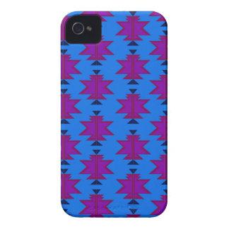 Design elements aztecs blue iPhone 4 case