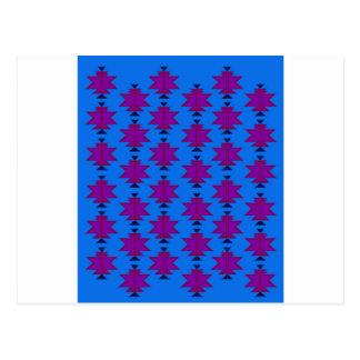 Design elements aztecs blue postcard