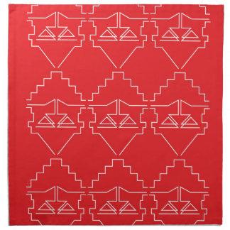 Design elements aztecs old look napkin
