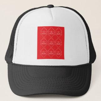 Design elements aztecs old look trucker hat