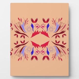 Design elements beige Ethno  Red Plaque