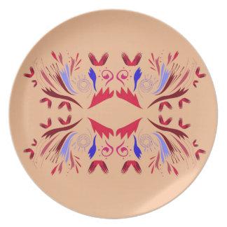 Design elements beige Ethno  Red Plate