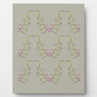 Design elements beige plaque