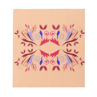 Design elements beige  red notepad