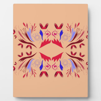 Design elements beige  red plaque