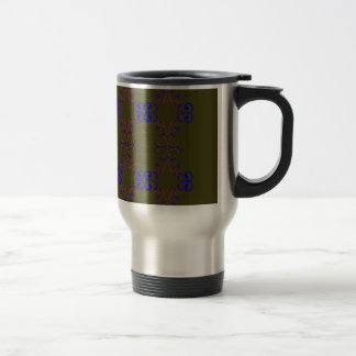 Design elements bio ethno travel mug