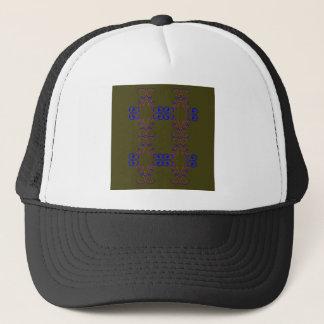 Design elements bio ethno trucker hat