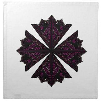 Design elements black on white napkin