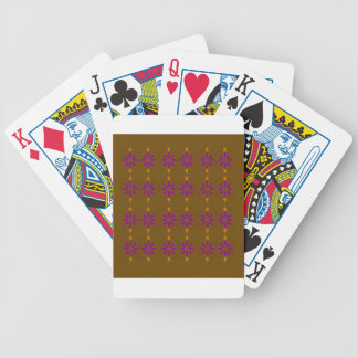 Design elements brown  folk bicycle playing cards