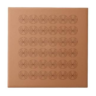 Design elements brown  folk ceramic tile