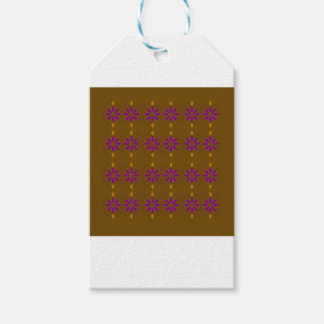 Design elements brown  folk gift tags