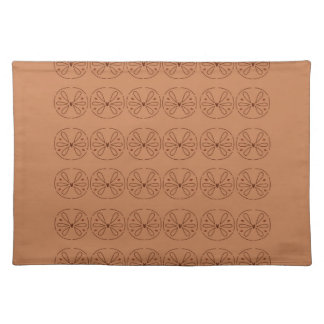 Design elements brown  folk placemat