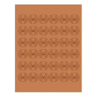 Design elements brown  folk postcard