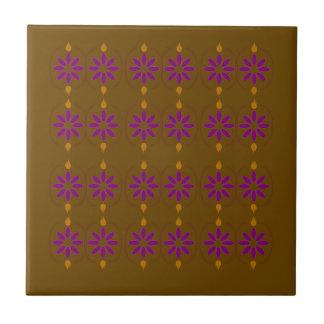 Design elements brown  folk tile