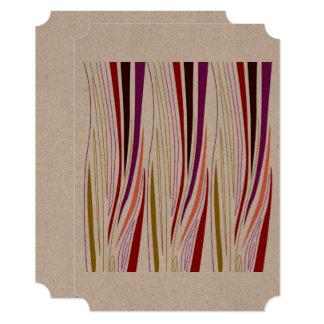 Design elements brown stripes card