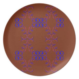 Design elements choco plate