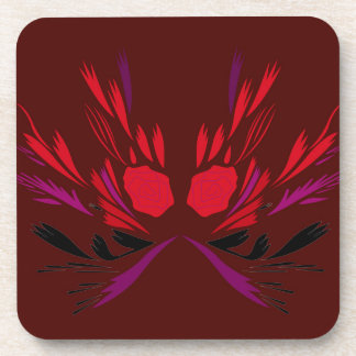 Design elements chocolate  red coaster