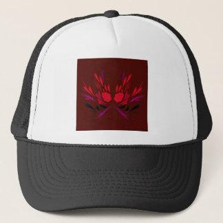 Design elements chocolate  red trucker hat