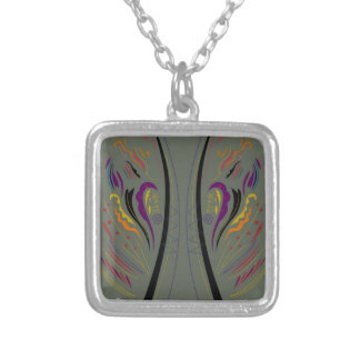 Design elements classic grey silver plated necklace