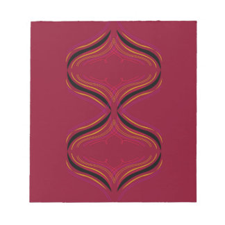 Design elements deep  Red Notepad