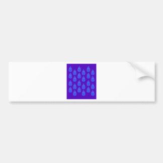 Design elements ethno blue bumper sticker