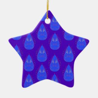 Design elements ethno blue ceramic ornament