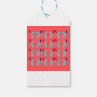DESIGN ELEMENTS ETHNO PINK SILVER GIFT TAGS