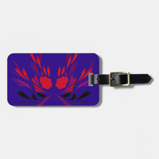 Design elements ethno  Red blue Luggage Tag