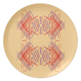 Design elements exotic  Red Beige Plate